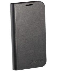 Étui folio en cuir véritable avec range-cartes pour Galaxy S4 - Noir