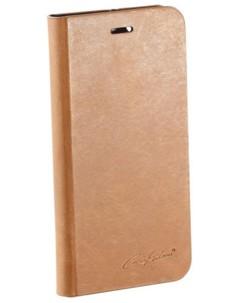 Étui folio en cuir véritable avec range-cartes pour iPhone 6 / 6S - Brun