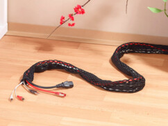 Gaine souple pour câbles avec glissière - 2 m
