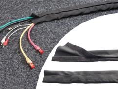 Gaine souple pour câbles avec scratch - 1 m