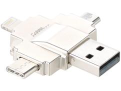 lecteur de carte micro sd avec fiches usb micro usb usb type c lightning apple