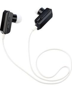 ecouteurs sans fil bluetooth intra auriculaire avec micro intégré noir et blanc auvisio