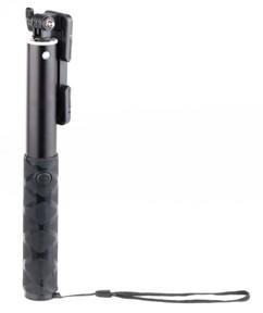 selfie stick avec déclencheur bluetooth dragonne et pince universelle pour iphone et smartphone longueur 83 cm
