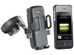 Support voiture pour smartphones avec chargeur Qi + coque adaptateur iPhone 4/4S