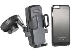 Support voiture pour smartphones avec chargeur Qi + coque adaptateur iPhone 6 Plus