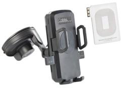 Support voiture pour smartphones avec chargeur Qi et adaptateur Galaxy Note 3