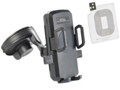 Support smartphone pour voiture avec chargeur compatible Qi et patch Galaxy S5
