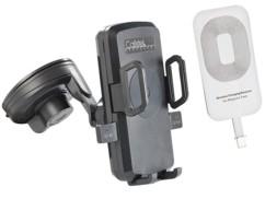 Support smartphone pour voiture avec chargeur compatible Qi et patch iPhone 6/7