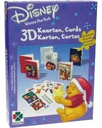 16 cartes de Noël 3D ''Winnie L'Ourson''
