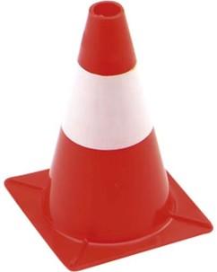 Cône de signalisation rouge et blanc - 30 cm