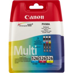 Cartouches originales Canon ''Cli526'' Pack couleur