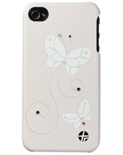 Coque cuir ''Crystal'' pour iPhone 4/4S – blanc