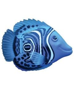 Poisson nageur bleu et blanc