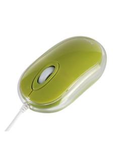 Saitek mini souris cristal - vert olive