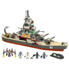jouet construction blocs briquettes kreo battleship bateau navire de guerre uss missouri