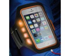 """Brassard de protection pour smartphone jusqu'à 4,5"""" avec témoins LED"""