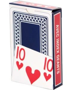 Jeu de cartes à jouer avec grands caractères