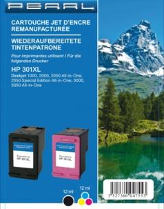 Pack cartouches remanufacturées HP 301 XL Noir + CMJ CH563EE