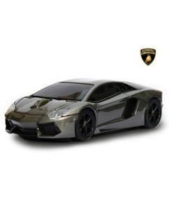 Souris sans fil voiture Lamborghini Aventador Gris