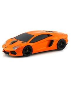 Souris sans fil voiture Lamborghini Aventador Orange