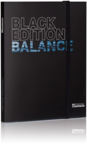 Bloc-notes A5 ''My Personal Compenion'' - ''Black Edition'' Balance