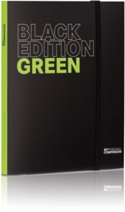 Bloc-notes A5 ''My Personal Compenion'' - ''Black Edition'' Green