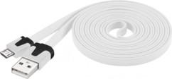 Câble USB - Micro USB plat, 2 m - Blanc