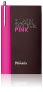 Carnet A7 ''My Personal Compenion'' - ''Black Edition'' Pink