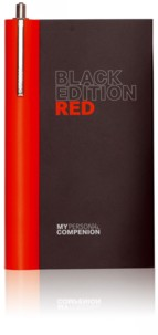 Carnet A7 ''My Personal Compenion'' - ''Black Edition'' Red