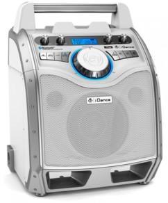 Enceinte nomade  iDance bluetooth avec microphone XD100 - Blanc