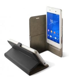 Étui universel folio pour smartphone avec slide - jusqu'à 5'' - Noir