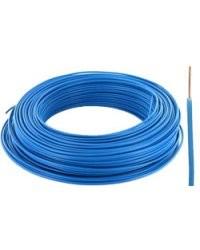 Fil électrique H07VU format 1,5 mm² Bleu - 100m