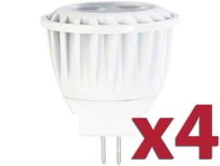 Lot de 4 spots à LED GU4 High Power - Blanc