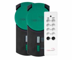 Pack de 2 prises wifi avec télécommande pour Smart wifi - Extérieur