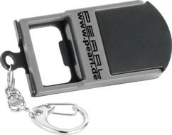Porte-clés 3 en 1 : lampe LED, ouvre-bouteille, et support pour smartphone