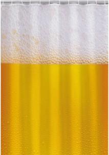 Rideau de douche 180 cm - motif Bière
