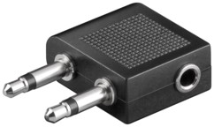 adaptateur jack audio 3.5 vers double jack pour avion