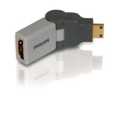adaptateur hdmi vers mini HDMI philips SWv3475s