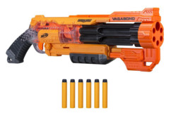 pistolet semi automatique nerf doomlands 2169 vagabond avec 6 flechettes elite en mousse