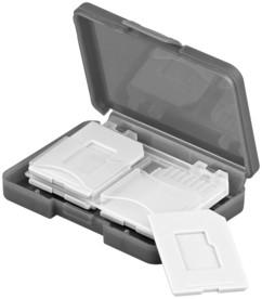 boite de rangement pour 4 cartes mémoire SD ou micro SD Goobay 95349
