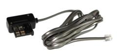 cable telephonique rj11 avec fiche gigogne pour prise telephone 2m noir