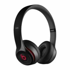 casque audio filaire beats solo 2 moins cher reconditionné version noir rouge