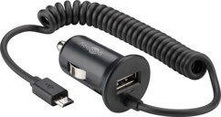 Chargeur Micro USB 12V / 24V avec prise USB supplémentaire