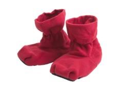 pantoufles chauffantes russka rouges en polaire