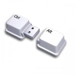 Clé usb 8 go ryval clavier blanc ctrl alt ouvert
