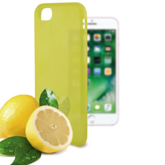 coque souple jaune pour iphone 7 7s avec odeur citron ksix sense