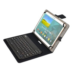 etui de protection avec clavier sans fil intégré pour tablette 10 pouces port muskoka