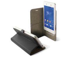 etui universel smartphone 6 pouces avec clapet folio et porte carte intérieur noir Ksix