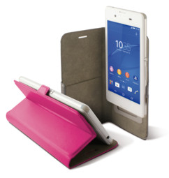 etui universel smartphone 6 pouces avec clapet folio et porte carte intérieur rose Ksix