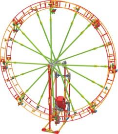 jeu de construction motorisé maquette grande roue 59 cm k'nex revolution
